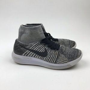 Nike Shoes - Nike Lunarepic Flyknit Running Shoes White Black